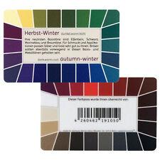 "Farbpass Herbst-Winter ""Loop"" - Plastikkarte mit 44 Farben"