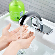 Automatic Hands Touch Hot&Cold  Free Sensor Mixer Faucet Bathroom Sink Tap