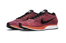 Nike Men's Flyknit Racer Hyper Orange Acai Berry Shoes Size 10 526628-008