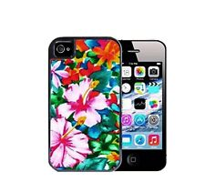 Case 2in1 Hybrid High Pastel Floral  Purple Silicone For iPhone 4S