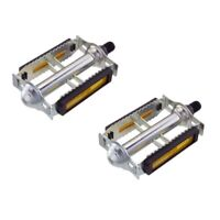 """NEW 616 Steel Bicycle Pedals 1/2"""" Chrome Rat Trap Old BMX MTB Pedal"""