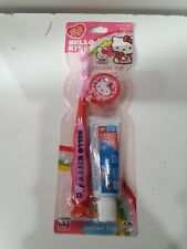 HELLO KITTY FIREFLY TOOTHBRUSH TRAVEL KIT WITH SUCTION CUP EDGE, TOP & KEYCHAIN