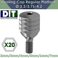 20 X Dental Implant Healing Cap Abutment For Regular Platform Ø3.3 / 3.75 / 4.2