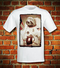 BOARDRIPPAZ T SHIRT SLOTH FAULTIER NASA ASTRONAUT RETRO ANIMAL HIPSTER SWAG DOPE
