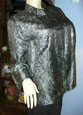 SIZE 18W WOMEN'S SILVER METALLIC MANDARIN JACKET - DRESS BARN