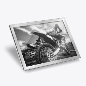 Glass Placemat 20x25 cm - BW - Motocross Bike Vehicle Racing  #40989