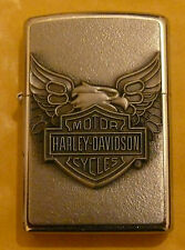 AUTOMOTIVE HARLEY DAVIDSON IRON EAGLE  ZIPPO LIGHTER FREE P&P FREE FLINTS