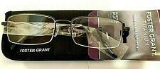 +2.75 Foster Grant Titanium Full Rim Advanced Reading Glasses T23 MSRP$28 Spg Hg
