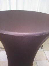 "30""HB Brown Cocktail Table Covers with 17"" base,reception,party,event,wedding"