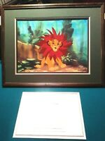 "SIMBA ""THE MANE EVENT"" LTD. ED. DISNEY SERICEL FROM LION KING NEW, CUSTOM FRAMED"