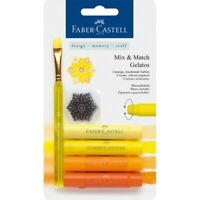 #121801 Faber Castell Yellow Set Gelatos Watersoluble Crayons Artist Craft Blend