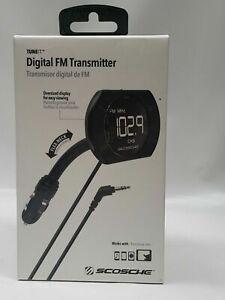 NIB Scosche Digital FM transmitter w/ Back Lit Display & Flex-Neck