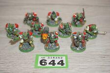 Warhammer 40k Space Orks Rogue Trader Ork Boyz X 10 Pintadas Lote 644