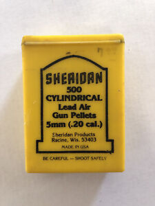 Sheridan 500 Cylindrical Lead Air Pellets 5mm .20