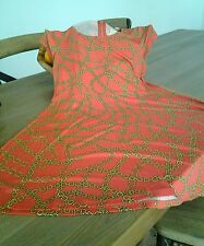 NWT Michael Kors Coral Reef Printed A- Line  Dress Size M MSRP $ 99.50