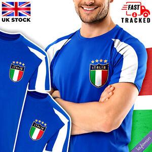 Mens Italy Football Team Contrast T-Shirt European Cup 2021 Italian / Italia Top