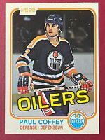 Paul Coffey RC 1981-82 O-Pee-Chee #111 OPC Rookie NHL