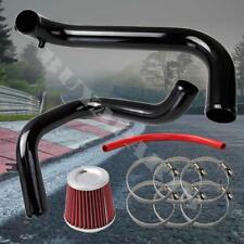 "2001-2005 Honda Civic Black Cold Air Intake System Kit w/ 2.5"" Red Air Filter"