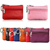 10.5*7.5cm Men Women Keychain Key Holder Leather Wallet Pouch Bag Coin Purse Hot