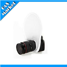 Flash Diffuser Camera Reflector Collapsibl​e For Flash Speedlite White with Bag