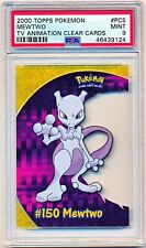 2000 Pokemon Topps TV Animation Series 2 Mewtwo Clear Cards #PC5 PSA 9 - POP 21