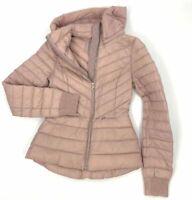 $773 Soia & Kyo Women's Pink Chalee Slim Down Hooded Puffer Jacket Coat Size L