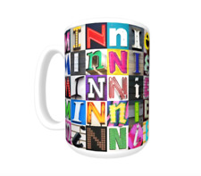 MINNIE Coffee Mug / Cup featuring the name in photos of sign letters