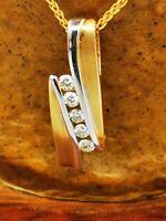 Schmuck Kette mit Anhänger  Diamanten 0,15 ct Top Moncara   585 Gelbgold