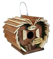 Wooden Hanging Garden Bird House Hotel Nest Box Feeding Station Home Assembled