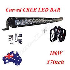 Curved 37'' CREE Single Row LED Work Light Bar Lamp Spot Flood Combo Truck F150