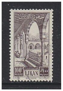 Lebanon - 1954, 100p Palace stamp - Used - SG 490