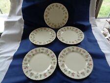 "Vintage Royal Albert Bone China England ""Winsome"" 8 1/8"" Salad Plates x5!"