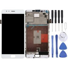 WHITE LCD Panel Screen Digitizer With Frame Full Complete For OnePlus 3T