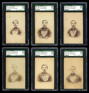 1866 E.S. Sterry & Co Lansingburgh Unions/Troy Haymakers CDVs 1st Baseball Cards