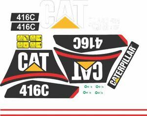 Caterpillar 416C Backhoe ( 1998 ) Decal / Adhesive / Sticker Complete Set