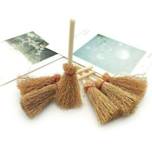 12pcs Mini Broom Decorations Portable Creative Prop for Haunted House Halloween
