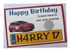 Personalised Happy Birthday 17th Driving Lessons Scratch Card  Reveal Gift Card