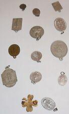Lot de 14 médaillons médailles religieuses Marie Sancta infanta Notre Dame