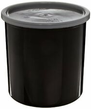 New listing Cambro Plastic Round Crock With Lid Black 2.7 qt.