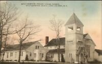 Westhampton Beach Long Island NY Presbyterian Church Hand Colored Postcard