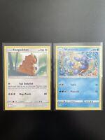 Rare SQUARE CUT CARDS Error Misprint Pokemon Wartortle 24/181 Team Up Kangaskhan