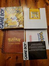 Pokemon Yellow Version (Nintendo Game Boy) Complete in Box -- Authentic
