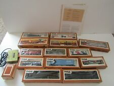 VINTAGE TYCO HO SCALE TRAIN SET CARS TRACK ENGINE LOCOMOTIVE PARTS ROLLING STOCK