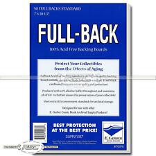 50 - Full-Back Standard 42pt Comic Book Backing Boards by E. Gerber - 700FB