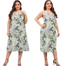 Women Floral Spaghetti Strap Sleeveless Long Maxi Dress Boho Casual Beach Dress