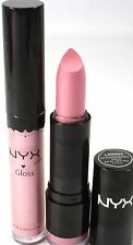 NYX Lipstick & Lipgloss Round 595 STRAWBERRY MILK & #15 BABY PINK new makeup