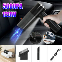 5000PA 120W Portable Cordless Car Vacuum Cleaner Hand-held Cleaner Tools  !F