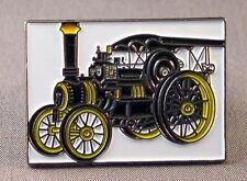 Metal Enamel Pin Badge Brooch Traction Engine Steam Engine NTET Black