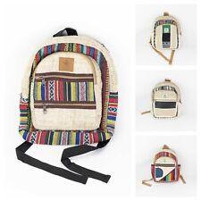 Unisex Small Ethnic Craft Hemp Bags Handmade Bags Boho Hippie style Backpack