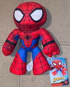 "Marvel Spiderman Flexers Series Spiderman 8"" Plush Figure Walgreens Exclusive"